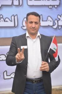 الصحفي حيدر انذار في نقابة الصحفيين