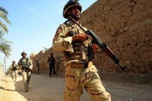 جندي عراقي في ساحة القتال